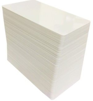 plasic cards white