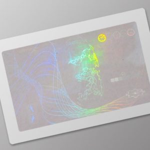 Clear hologram card overlay